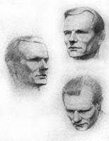 1. Три положения головы. Учебный рисунок