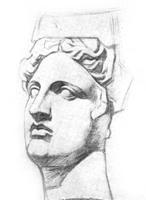 1. Савинский. Рисунок головы Аполлона