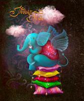 Иллюстрация - Слон пьет индийский чай. Компьютерная графика. Анимация