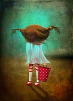 Иллюстрация - Девочка с ведром. Компьютерная графика. Анимация