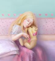 Иллюстрация - Девочка и ее мишка. Компьютерная графика. Анимация