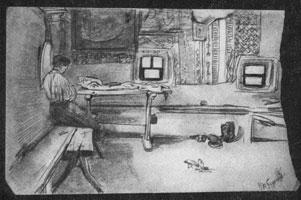 14. В. А. Серов. В крестьянской избе. Зарисовка