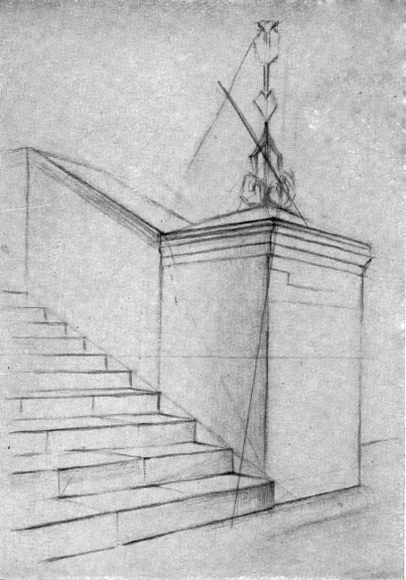 Как нарисовать карандашом поэтапно лестницу
