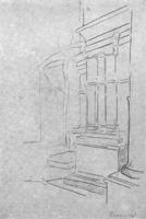 5. Портик с колоннами. Набросок
