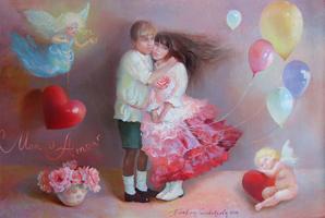 Картина продана. Любовь моя (картина размером 40х60см)