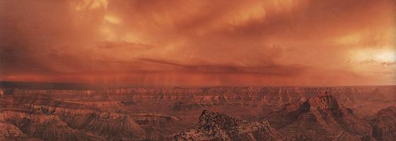 Фотографии Макдуфа Эвертона. Буря на закате. Мыс Ройял, северный рубеж Великого Каньона