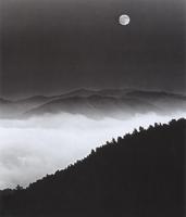 Фотографии Марти Кнаппа. Восход луны над горой Вижн. Берег Пойнт-Рейес, Калифорния, США