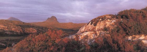 Фотографии Найала Бенви. Горы Кэнисп и Суилвен близ Лохинвера, Сазерленд, Шотландия