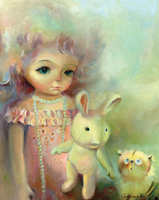 Кукольная феерия. Триптих  (картина создана на холсте, маслом, 50x40см). Продажа картин. Продана.