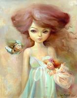Кукольная феерия. Триптих  (картина создана на холсте, маслом, 50x40см) Продажа картин. Продана.