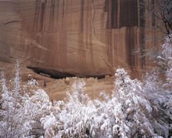 Фотографии Тома Тилла. Снег у скалы Руины Белого Дома. Национальный памятник природы «Каньон Де Челли», Аризона, США