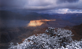 Фотографии Тома Тилла. Солнечный прожектор в Великом Каньоне. Аризона, США