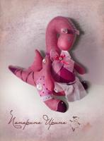 Эксклюзивная игрушка Дракон - имя Виолетта (фиолетовый цветок)