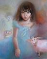 Портрет дочки Тома Круза (Портрет на заказ по фото)