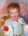 Портрет мальчика с любимыми зверятами (Портрет на заказ по фото)