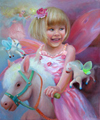 Портрет девочки на лошадке в волшебном стиле (Портрет на заказ по фото)