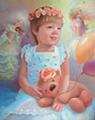 Детский портрет в феерическом стиле (Портрет на заказ по фото)