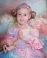 Портрет ребенка с маленькими феечками (Портрет на заказ по фото)