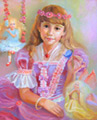 Портрет девочки с феями (Портрет на заказ по фото)