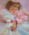 Портрет маленькой девочки с ее любимыми игрушками (Портрет на заказ по фото)
