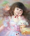 Детский портрет с милыми феями (Портрет на заказ по фото)