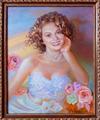 Портрет Ольги ко дню ее рождения (портрет сделан на холсте, маслом, 50x40см)